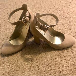 Guess chunky heels Nude
